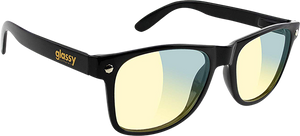 GLASSY SUNHATERS LEONARD GAMERS BLK/CLR SUNGLASSES