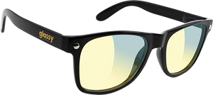 GLASSY SUNHATERS LEONARD GAMERS BLK/CLR YELLOW SUNGLASSES