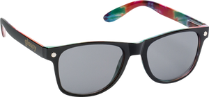 GLASSY SUNHATERS LEONARD BLK/TIE-DYE SUNGLASSES