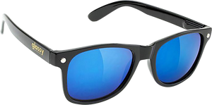 GLASSY SUNHATERS LEONARD BLK/BLK/BLU MIRROR SUNGLASSES