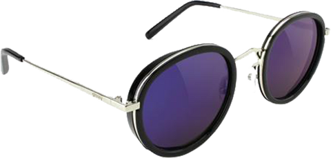 GLASSY SUNHATERS LINCOLN SUNGLASSES BLK/BLU MIRROR