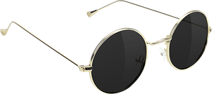 GLASSY SUNHATERS MAYFAIR GOLD/BLK SUNGLASSES