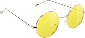 GLASSY SUNHATERS MAYFAIR GOLD/YEL SUNGLASSES