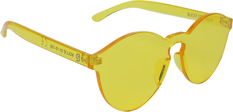 GLASSY SUNHATERS MOLLIE YELLOW SUNGLASSES