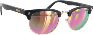 GLASSY SUNHATERS MORRISON BLK/PINK MIRROR
