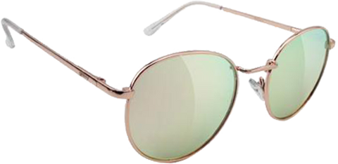 GLASSY SUNHATERS RIDLEY ROSE GOLD/PINK MIRROR SUNGLASSES