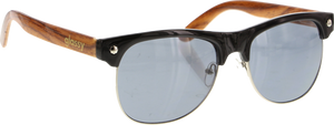 GLASSY SUNHATERS SHREDDER BLK/WOOD SUNGLASSES