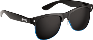 GLASSY SHREDDER BLK/BLUE RIM SUNGLASSES