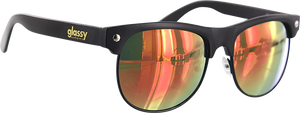 GLASSY SUNHATERS SHREDDER MATTE BLK/RED MIRROR SUNGLASSES