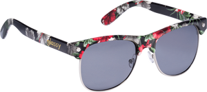 GLASSY SHREDDER BLK/FLORAL SUNGLASSES