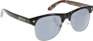 GLASSY SUNHATERS SHREDDER BLK/FLORAL CHEETAH SUNGLASSES