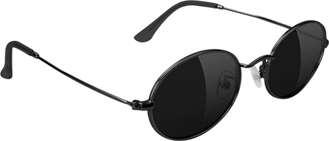 GLASSY SUNHATERS STARK BLK/BLK SUNGLASSES