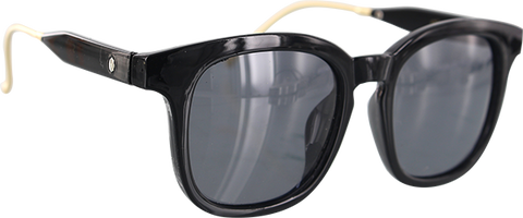 GLASSY SUNHATERS CURRAN SIG POLARIZED BLK/GOLD SUNGLASSES