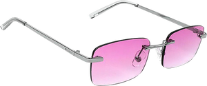 GLASSY SUNHATERS WALKER SIGNATURE SUNGLASSES SILVER/PINK