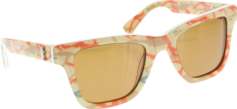 GRIZZLY BRANCH CAMO SUNGLASSES TAN/ORG