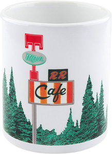 HABITAT TWIN PEAKS DAMN GOOD COFFEE MUG WHITE