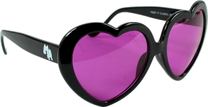 HAPPY HOUR HEART ONS BLK SUNGLASSES