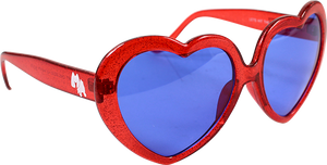 HAPPY HOUR HEART ONS RED SUNGLASSES