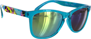 HAPPY HOUR MAMBA TAG TURQUOISE SUNGLASSES