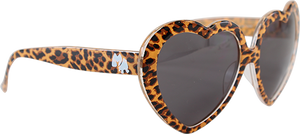HAPPY HR HEART ON SUNGLASSES LEOPARD