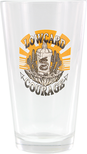 LOWCARD LC COURAGE PINT GLASS