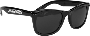 SANTA CRUZ STRIP SHADES WAYFARER SUNGLASSES BLACK