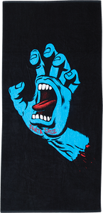 SANTA CRUZ SCREAMING HAND TOWEL BLACK/BLUE