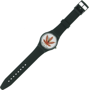 SKATE MENTAL PIZZA LEAF WATCH BLACK