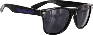 SEND HELP LOGO SUNGLASSES BLK/PUR