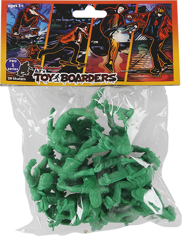 TOY BOARDERS SKATE PRO SERIES I FIGURES GREEN 24pc