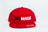 """SLFMADE"" block design hats (red)"