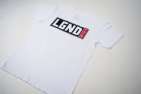 LGND TALK Classic White  Tee ( black  & red )