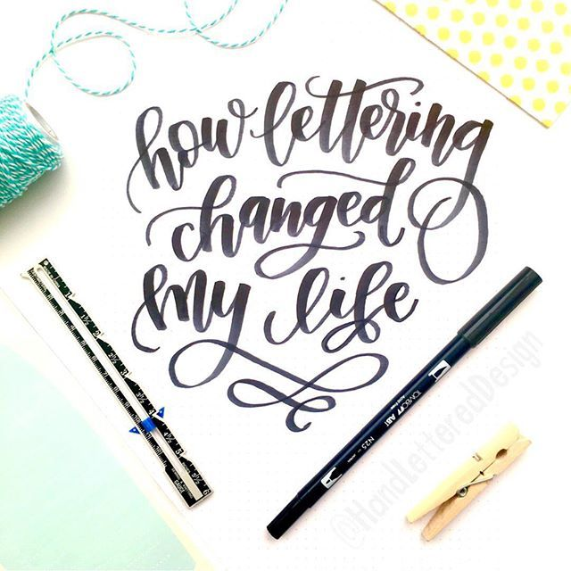 How Lettering Changed My Life