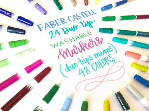 Duo Tip Markers for Beginner Hand Lettering