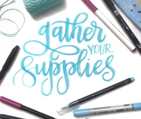 The best Pens, Papee, and Supplies for Hand Lettering
