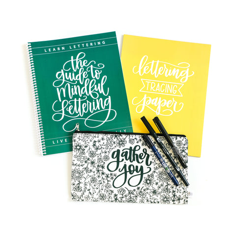 Guide to Mindful Lettering Bundle with Full Course