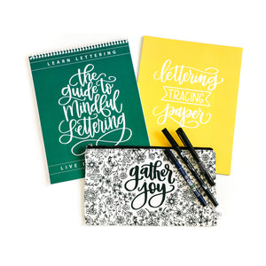 The Guide to Mindful Lettering Bundle - Top Binding