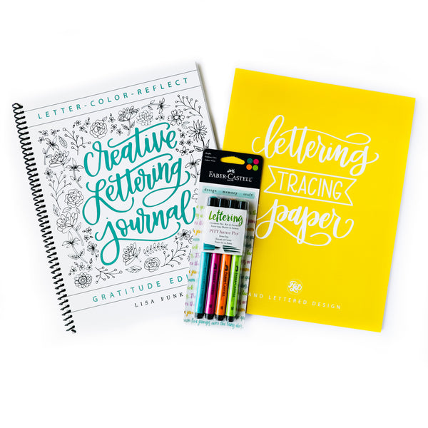 Creative Lettering Journal Bundle with Full Course