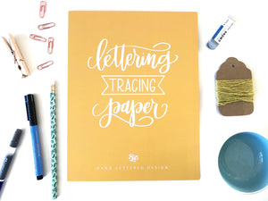 Lettering Tracing Paper Pad