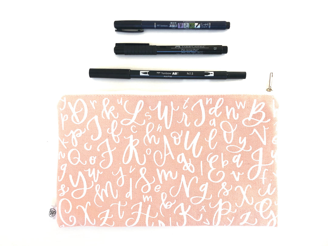 Perfect Pen Pouch Starter Kit - Pink Canvas