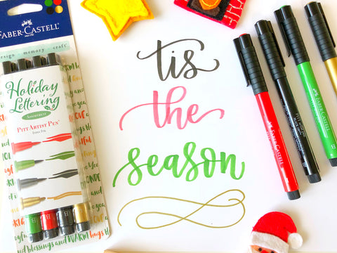 Holiday Lettering Kit - PITT Artist Pens