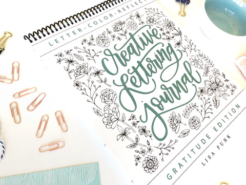 Top Spiral Binding - Creative Lettering Journal