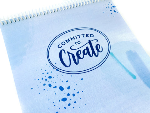 Spiral Notebook - Committed to Create
