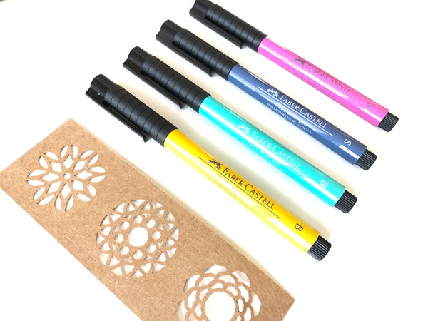 Mandala Artist Pens, 2 Brush Pens and 2 Fine Tip