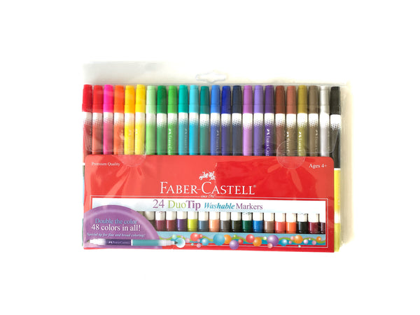 24 Duo-tip Markers Set (with 48 colors!)