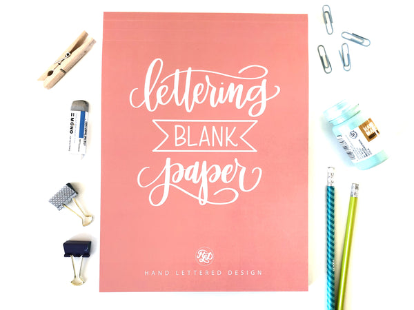 Lettering Blank Paper Pad