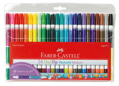 24 Duo-tip Marker Pen Set (with 48 colors!)