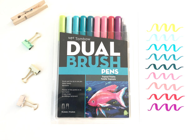 Tropical - Dual Brush Pens
