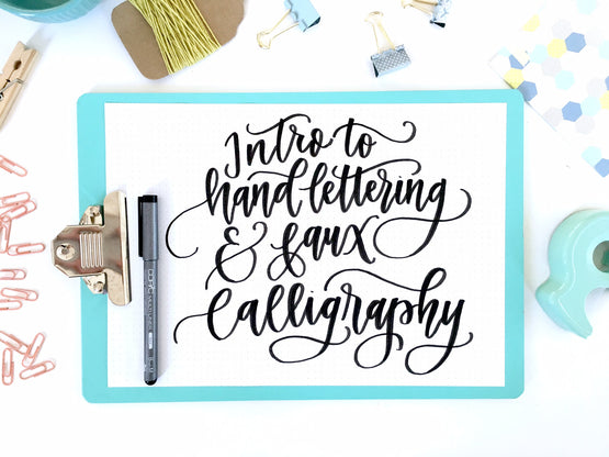 Intro to Hand-Lettering & Fax Calligraphy Online Course