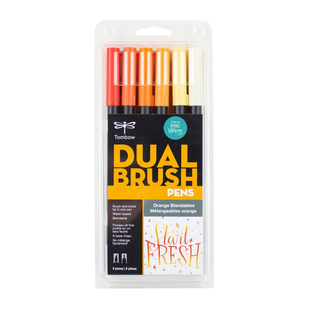 Orange Blendables 6-Pack - Dual Brush Pens
